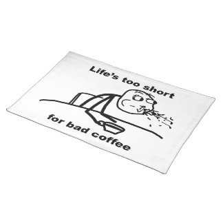 Bad Coffee Cloth Placemat