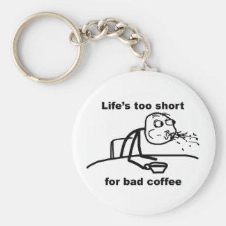 Bad Coffee Key Chain