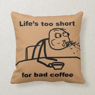 Bad Coffee Throw Pillow