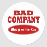 Bad Company Etiqueta Redonda