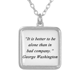 Bad Company - George Washington Silver Plated Necklace