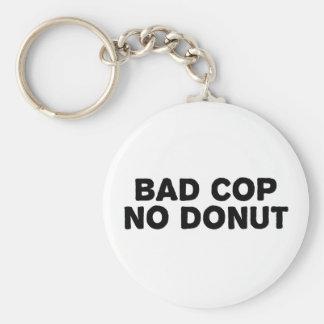 Bad Cop No Donut Basic Round Button Keychain