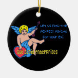 Bad Cupid Christmas Ornaments