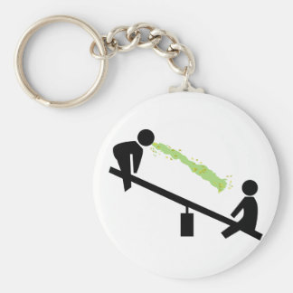 Bad Day at the Playground Basic Round Button Keychain