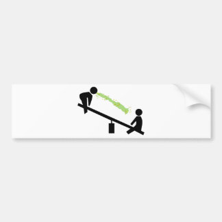 Bad Day at the Playground Car Bumper Sticker