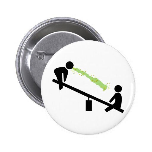 Bad Day at the Playground Pinback Buttons