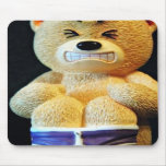 Bad day bear mouse pads