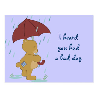 Bad Day Bear Postcard