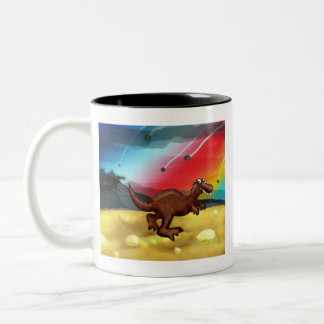 Bad Day Dinosaur Two-Tone Coffee Mug