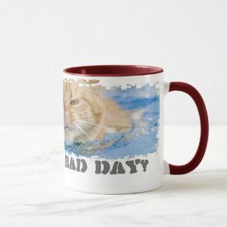 BAD DAY Dirty Border Ringer Mug