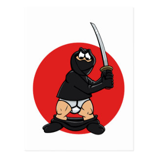 Bad Day Ninja Postcard