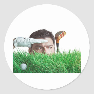 Bad Day of Golf is Better than a Good Day of Work Classic Round Sticker