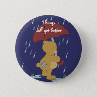 Bad Day Teddy Button