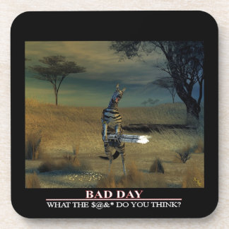 Bad Day Zebra Cork Coaster