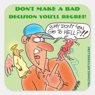 BAD DECISION | REGRET STICKERS