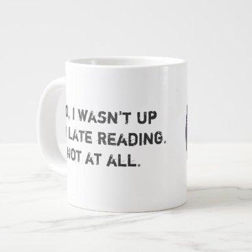Coffee Themed Bad Decisions Book Club Extra Large Coffee Mug