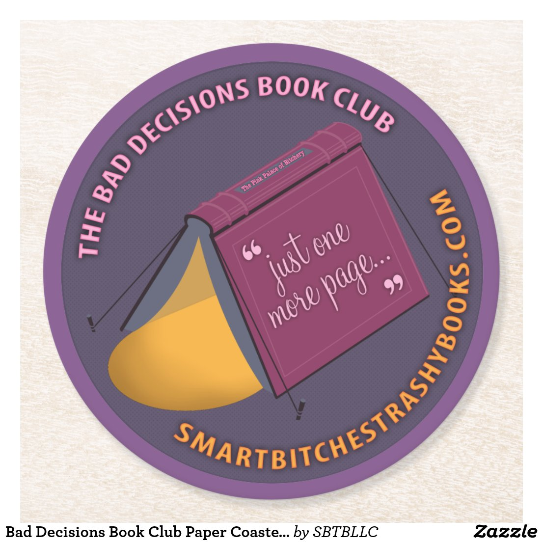 Bad Decisions Book Club Paper Coasters