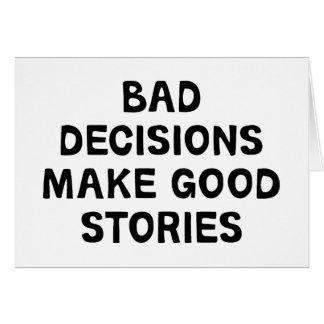 Bad Decisions Card