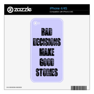 BAD DECISIONS iPhone 4S DECAL