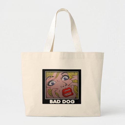 bad dog 2 tote bags