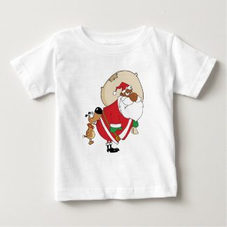 Bad Dog Bites Black Santa on the Butt Infant T-shirt