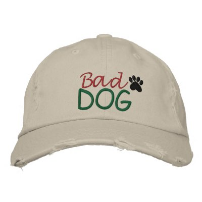 Bad DOG by SRF Embroidered Baseball Caps