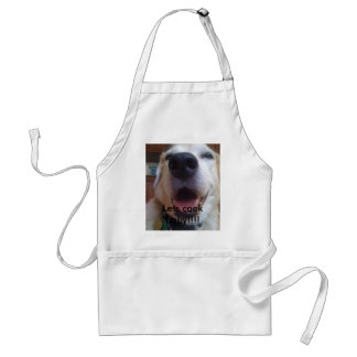 Bad Dog Carl--Let's cook baby!!!! Adult Apron