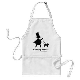 Bad dog walker adult apron
