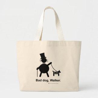 Bad dog walker large tote bag