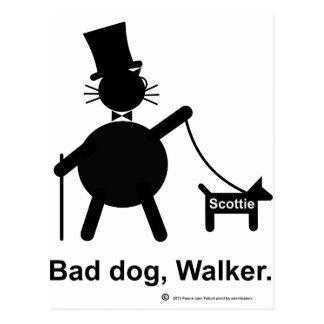 Bad dog walker postcard