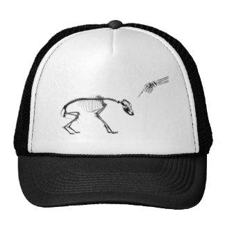 Bad Dog X-Ray Skeleton in Black & White Trucker Hat