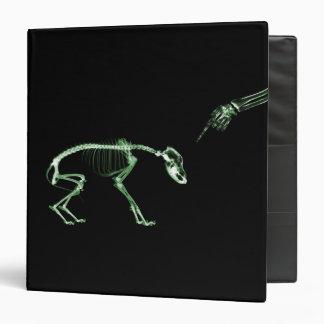 Bad Dog X-ray Skeleton in Green Binder
