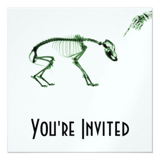Bad Dog X-ray Skeleton in Green Card