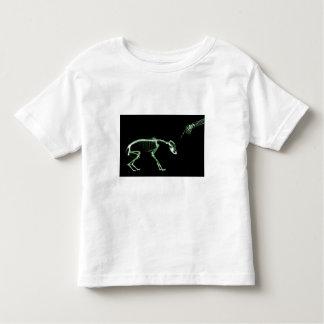 Bad Dog X-ray Skeleton in Green Toddler T-shirt