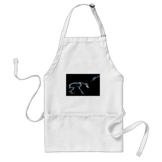Bad Dog Xray Skeleton Black Blue Adult Apron