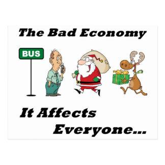 Bad Economy Full Postcard