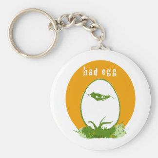Bad Egg Basic Round Button Keychain