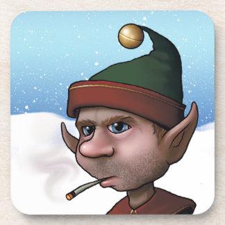 Bad Elf Smoking, Coaster For Christmas, 6 plastic