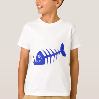Bad Fish Blue Skull T-Shirt
