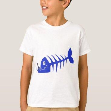 HQPhoto Bad Fish Blue Skull T-Shirt