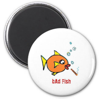 bAd Fish extras 2 Inch Round Magnet