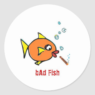 bAd Fish extras Classic Round Sticker