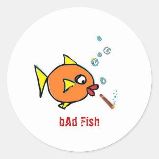 bAd Fish extras Round Sticker