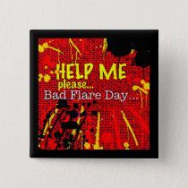 bad flare day red button/badge/pin button