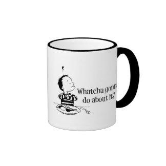 Bad food : Whatcha Gonna Do About It? Ringer Mug