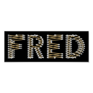 Bad FRED Logo Poster