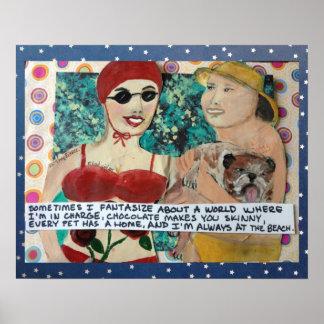 BAD GIRL ART -SOMETIMES I FANTASIZE ABOUT A WORLD POSTER
