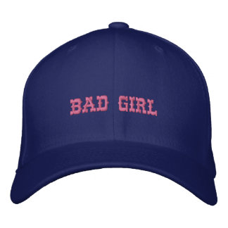 BAD GIRL EMBROIDERED BASEBALL HAT