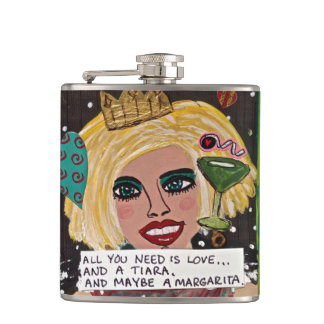 BAD GIRL FLASK-ALL YOU NEED IS LOVE AND A TIARA FLASK