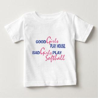 Bad Girls Play Softball Baby T-Shirt